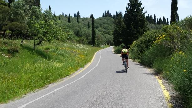 Ami's derriere ten seconds later in Corfu, 2014